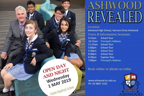 open day 2019 ashwood